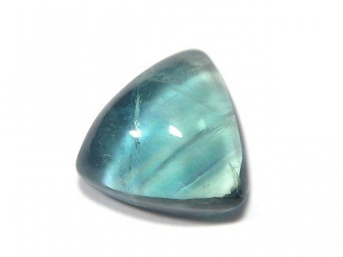 【動画】【1点もの】宝石質ブルーグリーンフローライトAAA カボション 1粒 NO.120