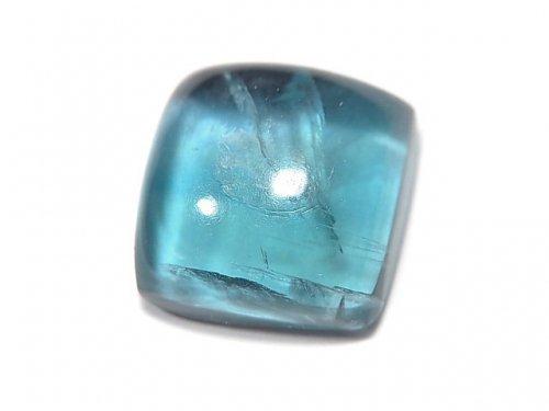 【動画】【1点もの】宝石質ブルーグリーンフローライトAAA カボション 1粒 NO.127