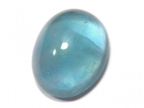【動画】【1点もの】宝石質ブルーグリーンフローライトAAA カボション 1粒 NO.131