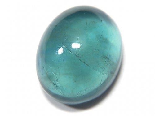 【動画】【1点もの】宝石質ブルーグリーンフローライトAAA カボション 1粒 NO.134