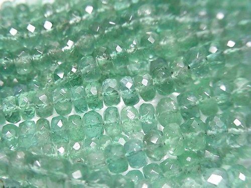 【動画】ザンビア産宝石質エメラルドAAA ボタンカット 半連/1連(約38cm)
