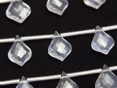 【動画】宝石質スコロライトAAA 変形ペアシェイプカット10×7mm 1連(9粒)