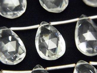 【動画】宝石質クリスタルAAA- ペアシェイプ ブリオレットカット 1連(約17cm)