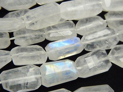 【動画】宝石質レインボームーンストーンAA++ タンブルカット 1連(約36cm)