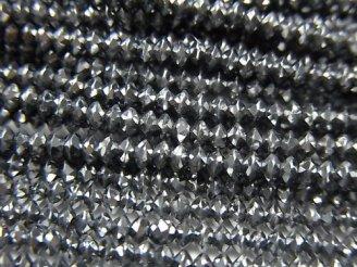 【動画】【素晴らしい輝き】高純度テラヘルツ鉱石 ソロバン ラウンドカット2.5×2.5×1.5mm 1連(約36cm)