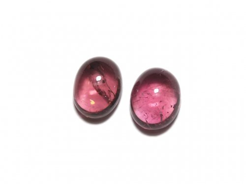【動画】【1点もの】宝石質ピンクトルマリンAAA カボション 2個セット NO.271