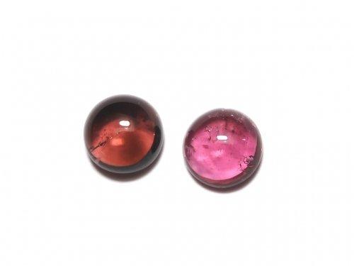 【動画】【1点もの】宝石質ピンクトルマリンAAA カボション 2個セット NO.272
