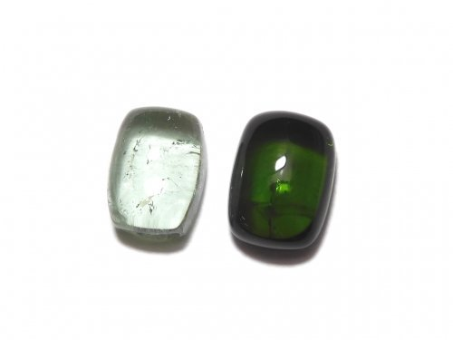 【動画】【1点もの】宝石質グリーントルマリンAAA カボション 2個セット NO.273