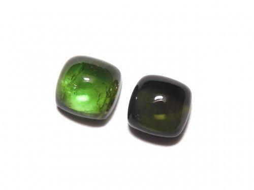 【動画】【1点もの】宝石質グリーントルマリンAAA カボション 2個セット NO.274
