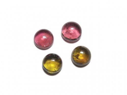 【動画】【1点もの】宝石質マルチカラートルマリンAAA カボション 4個セット NO.278