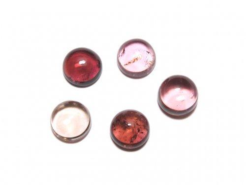 【動画】【1点もの】宝石質ピンクトルマリンAAA カボション 5個セット NO.288