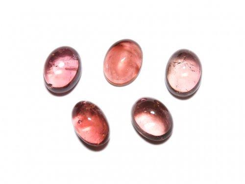 【動画】【1点もの】宝石質ピンクトルマリンAAA カボション 5個セット NO.289