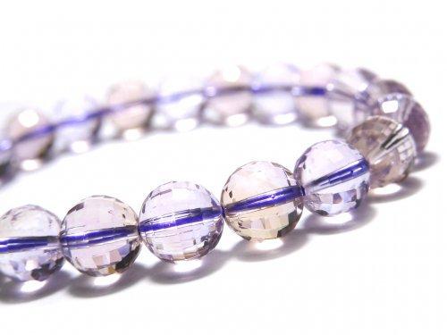 【動画】【1点もの】宝石質アメトリンAAA- ミラーラウンドカット8.5mm 1連(ブレス) NO.109