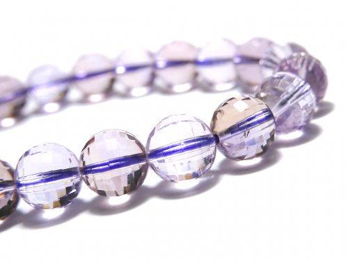 【動画】【1点もの】宝石質アメトリンAAA- ミラーラウンドカット8.5mm 1連(ブレス) NO.110