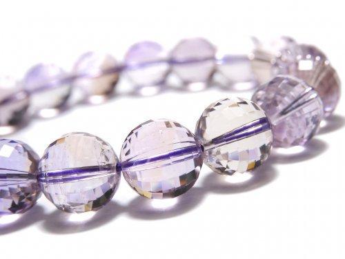 【動画】【1点もの】宝石質アメトリンAAA- ミラーラウンドカット10.5mm 1連(ブレス) NO.116