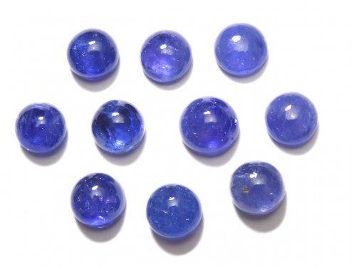 【動画】【1点もの】宝石質タンザナイトAAA カボション 10粒セット NO.1