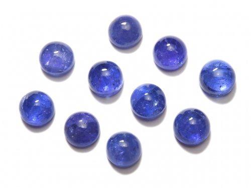 【動画】【1点もの】宝石質タンザナイトAAA カボション 10粒セット NO.3