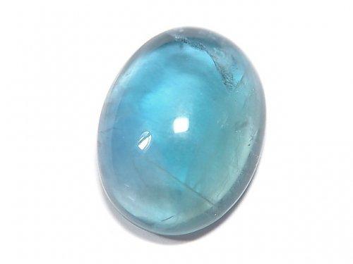 【動画】【1点もの】宝石質ブルーグリーンフローライトAAA カボション 1粒 NO.147