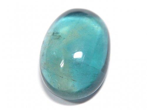 【動画】【1点もの】宝石質ブルーグリーンフローライトAAA カボション 1粒 NO.150