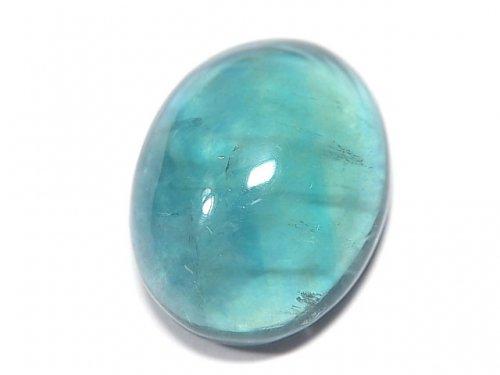 【動画】【1点もの】宝石質ブルーグリーンフローライトAAA カボション 1粒 NO.154