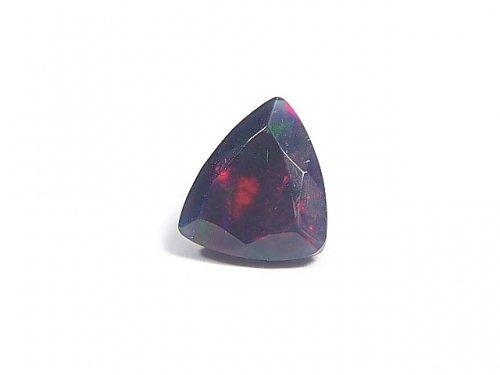 【動画】【1点もの】宝石質エチオピア産ブラックオパールAAA ファセットカット 1粒 NO.64