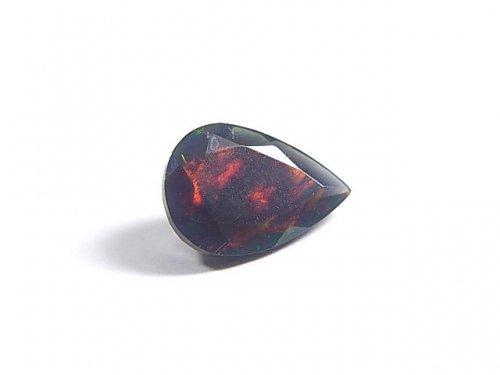 【動画】【1点もの】宝石質エチオピア産ブラックオパールAAA ファセットカット 1粒 NO.65