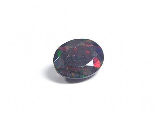 【動画】【1点もの】宝石質エチオピア産ブラックオパールAAA ファセットカット 1粒 NO.66