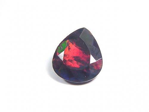 【動画】【1点もの】宝石質エチオピア産ブラックオパールAAA ファセットカット 1粒 NO.71