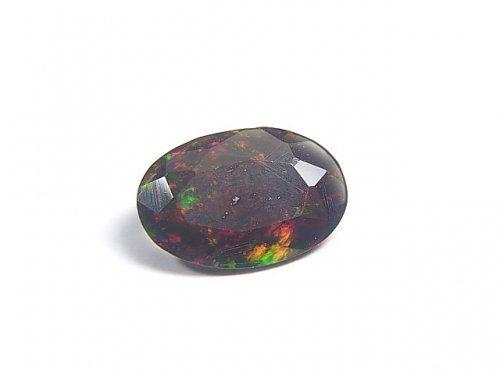 【動画】【1点もの】宝石質エチオピア産ブラックオパールAAA ファセットカット 1粒 NO.72
