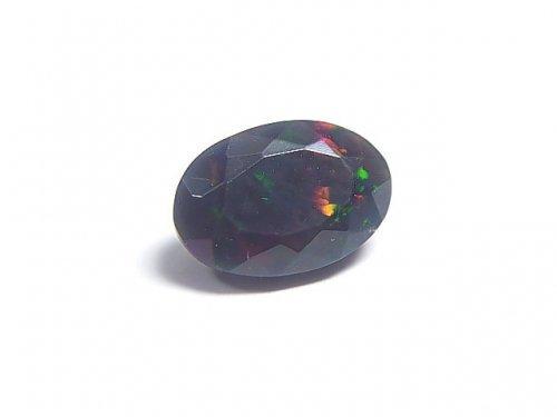 【動画】【1点もの】宝石質エチオピア産ブラックオパールAAA ファセットカット 1粒 NO.76