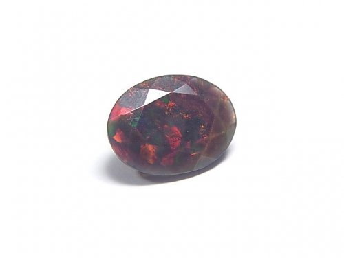 【動画】【1点もの】宝石質エチオピア産ブラックオパールAAA ファセットカット 1粒 NO.77