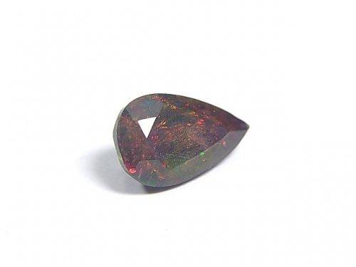 【動画】【1点もの】宝石質エチオピア産ブラックオパールAAA ファセットカット 1粒 NO.78