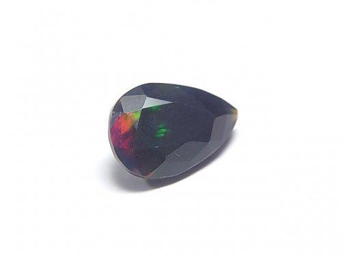 【動画】【1点もの】宝石質エチオピア産ブラックオパールAAA ファセットカット 1粒 NO.82