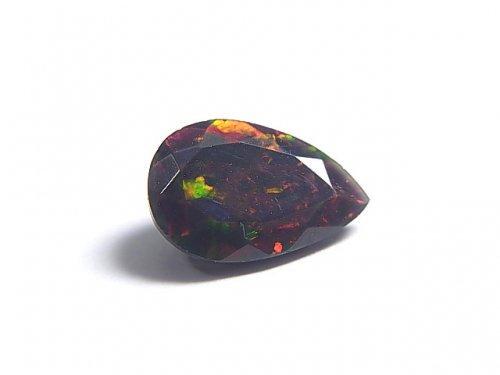 【動画】【1点もの】宝石質エチオピア産ブラックオパールAAA ファセットカット 1粒 NO.83