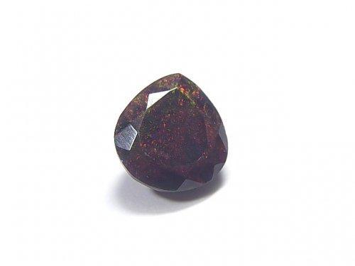 【動画】【1点もの】宝石質エチオピア産ブラックオパールAAA ファセットカット 1粒 NO.84