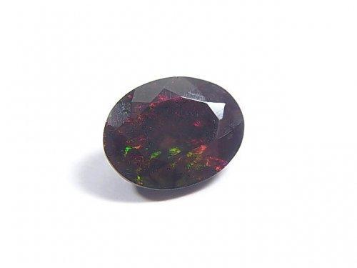 【動画】【1点もの】宝石質エチオピア産ブラックオパールAAA ファセットカット 1粒 NO.85