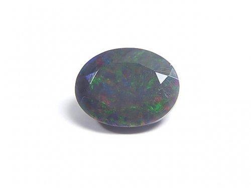 【動画】【1点もの】宝石質エチオピア産ブラックオパールAAA ファセットカット 1粒 NO.86