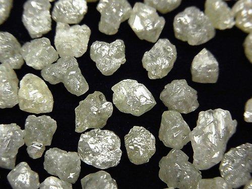【動画】グレー〜オフホワイトダイヤモンド 穴なしラフタンブル 5粒