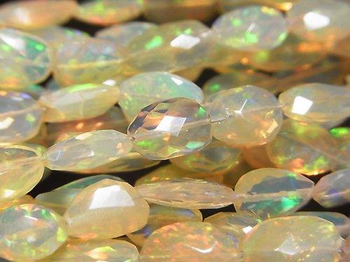 【動画】宝石質オパールAAA フラットタンブルカット オレンジ系 半連/1連(約38cm)