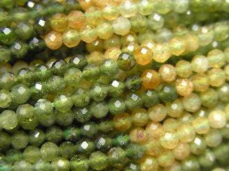 【動画】【素晴らしい輝き】宝石質グリーン〜ブラウントルマリンAAA- ラウンドカット3mm 1連(約37cm)
