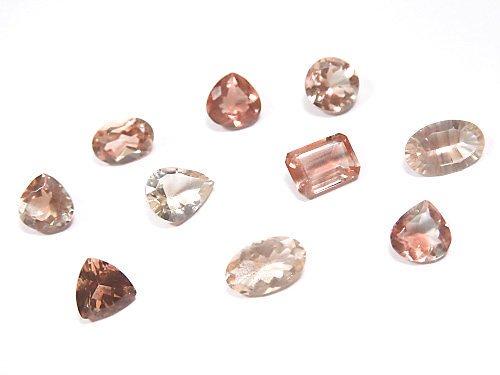 【動画】【1点もの】宝石質オレゴンサンストーンAAA+ ファセットカット 10個セット NO.300