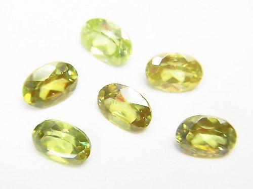 【動画】宝石質スフェーン(チタナイト)AAA+ 穴なしオーバルファセットカット7×5mm 1粒
