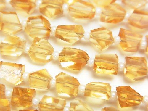【動画】宝石質シトリンAAA タンブルカット 1連(約18cm)