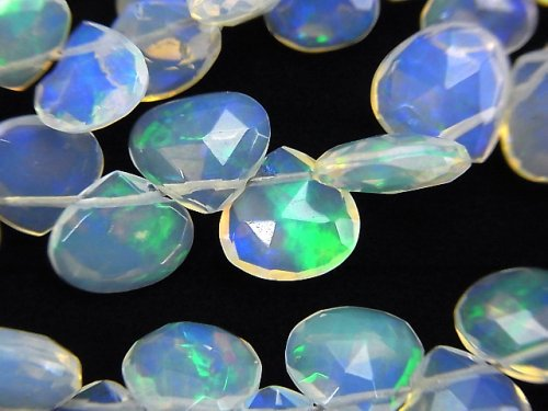 【動画】宝石質クリスタルオパールAAA マロン ブリオレットカット 1連(約32cm)