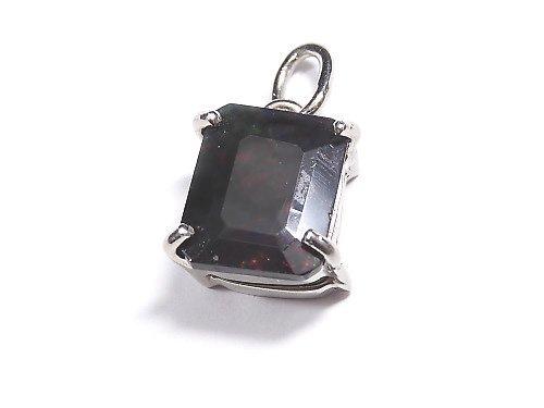 【動画】【1点もの】宝石質ブラックオパールAAA ファセットカットペンダントトップ SILVER925製 NO.115