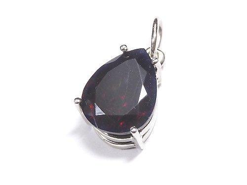 【動画】【1点もの】宝石質ブラックオパールAAA ファセットカットペンダントトップ SILVER925製 NO.119