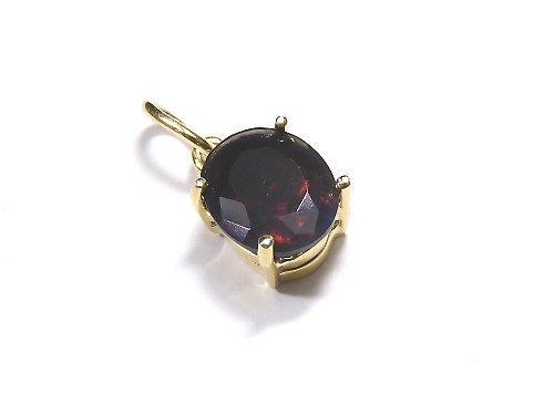 【動画】【1点もの】宝石質ブラックオパールAAA ファセットカットペンダントトップ 18KGP製 NO.205