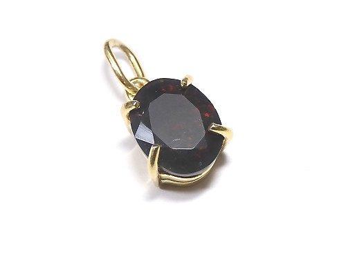 【動画】【1点もの】宝石質ブラックオパールAAA ファセットカットペンダントトップ 18KGP製 NO.207