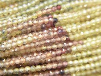 【動画】【素晴らしい輝き】宝石質マルチカラーサファイアAAA 極小ラウンドカット2mm 1連(約30cm)