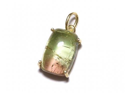 【動画】【1点もの】宝石質バイカラートルマリンAAA- ペンダントトップ 18KGP製 NO.120